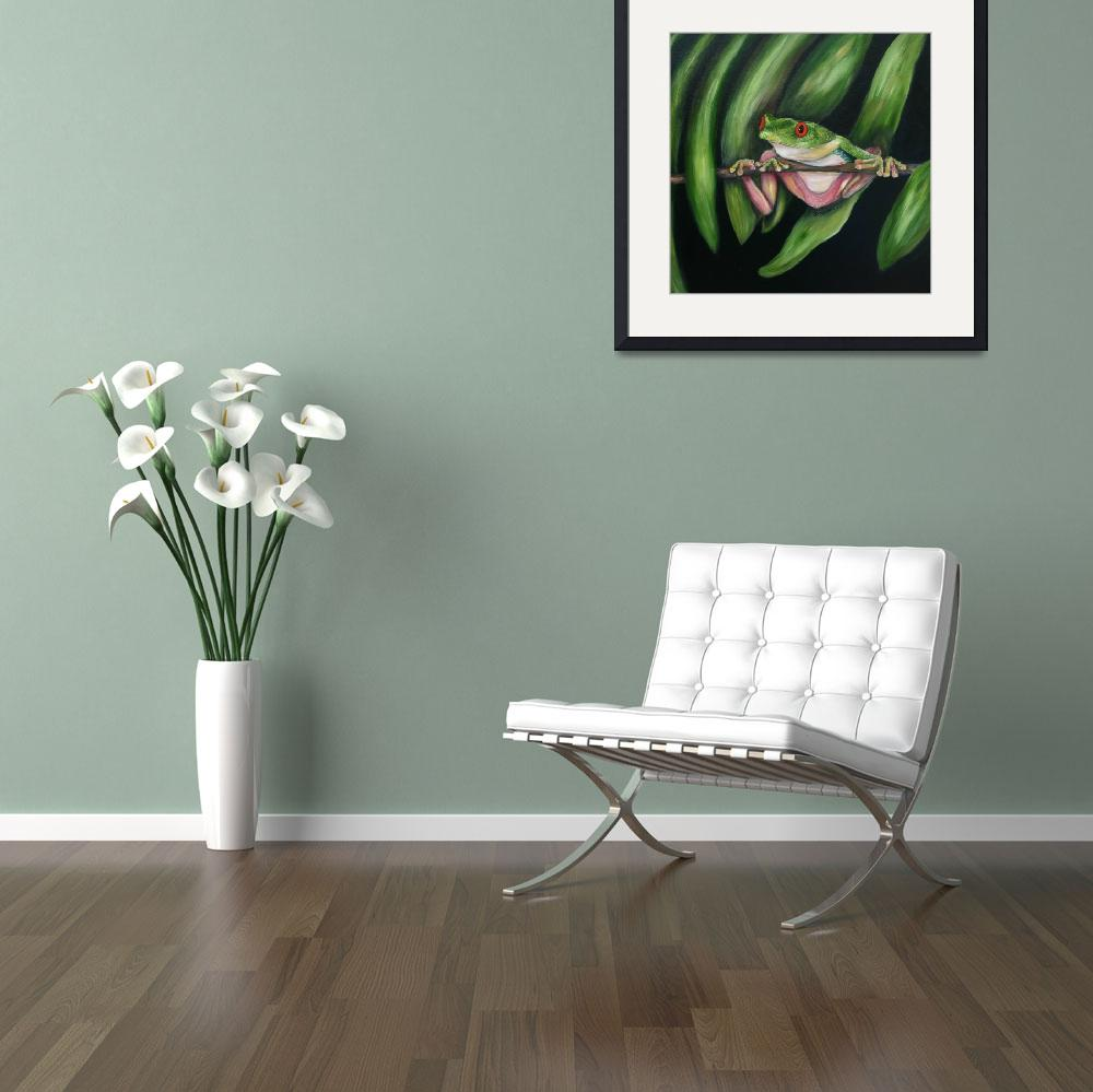 """""""Red eyed Tree Frog #2&quot  (2008) by artistamy"""