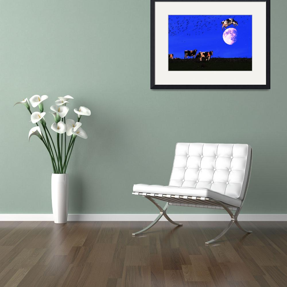 """""""The Cow Jumped Over The Moon&quot  (2010) by wingsdomain"""