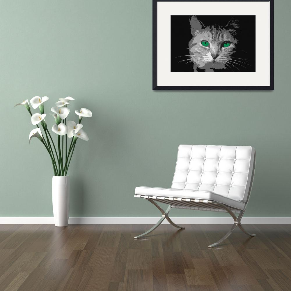 """Green Eyed Cat""  (2009) by davidmbeach"
