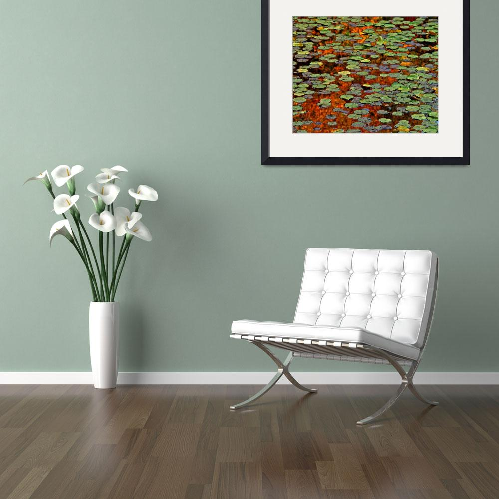 """Autumn Water Lily Patties ll&quot  (2009) by bavosiphotoart"