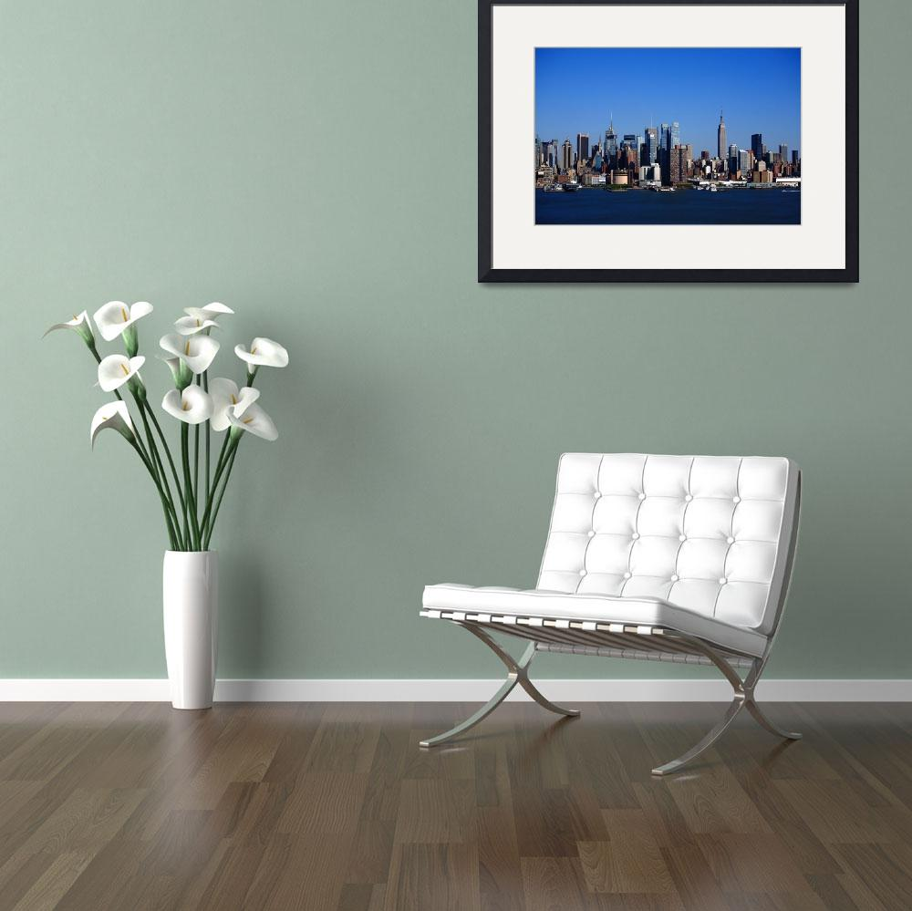 """""""New York City Skyline 2012&quot  (2012) by Ffooter"""