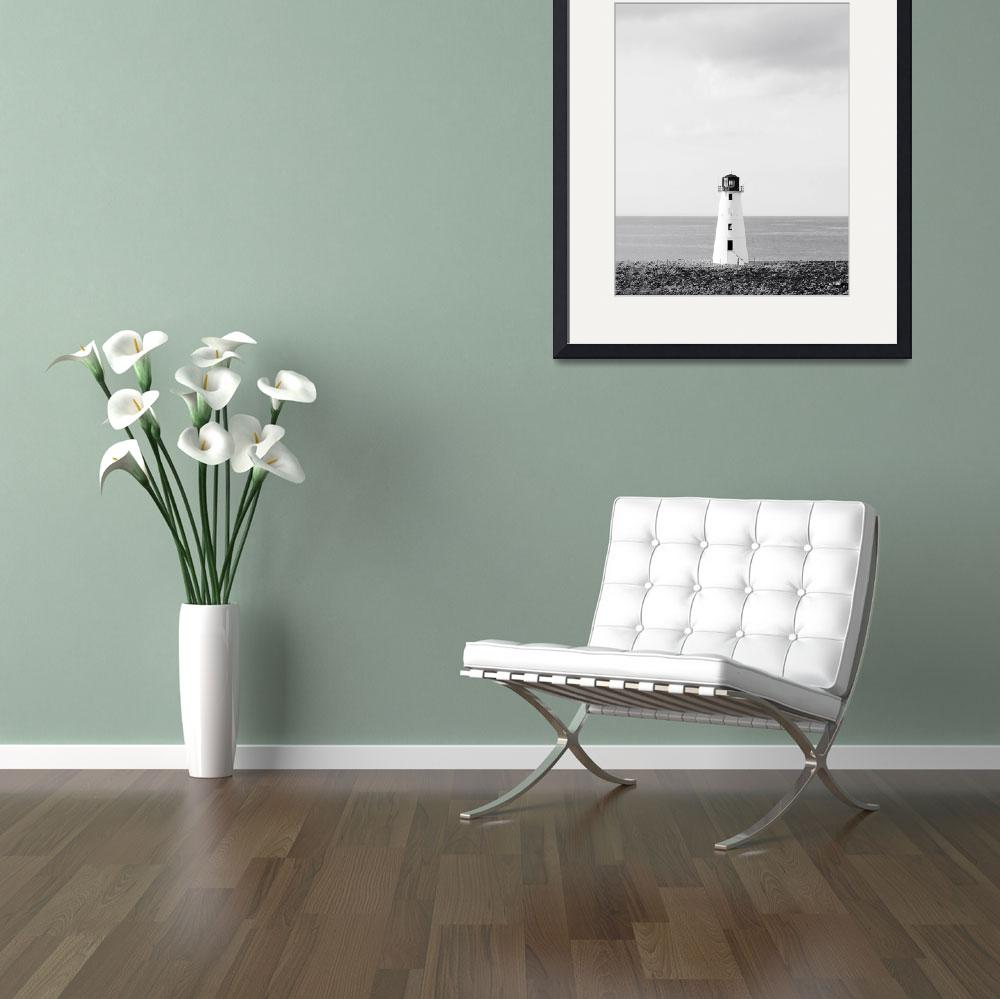 """""""Minimalist Lighthouse Photo - Black and White Naut&quot  (2011) by StephsShoes"""