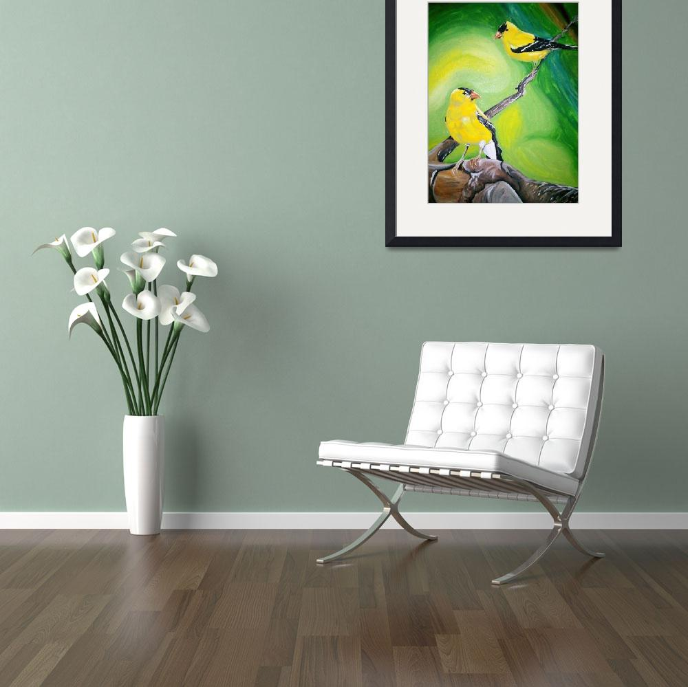 """""""Gold Finches""""  (2010) by coreymurray"""