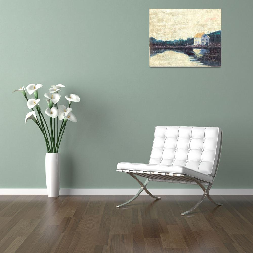 """""""Riverhouse&quot  (1996) by simmonsfineart"""