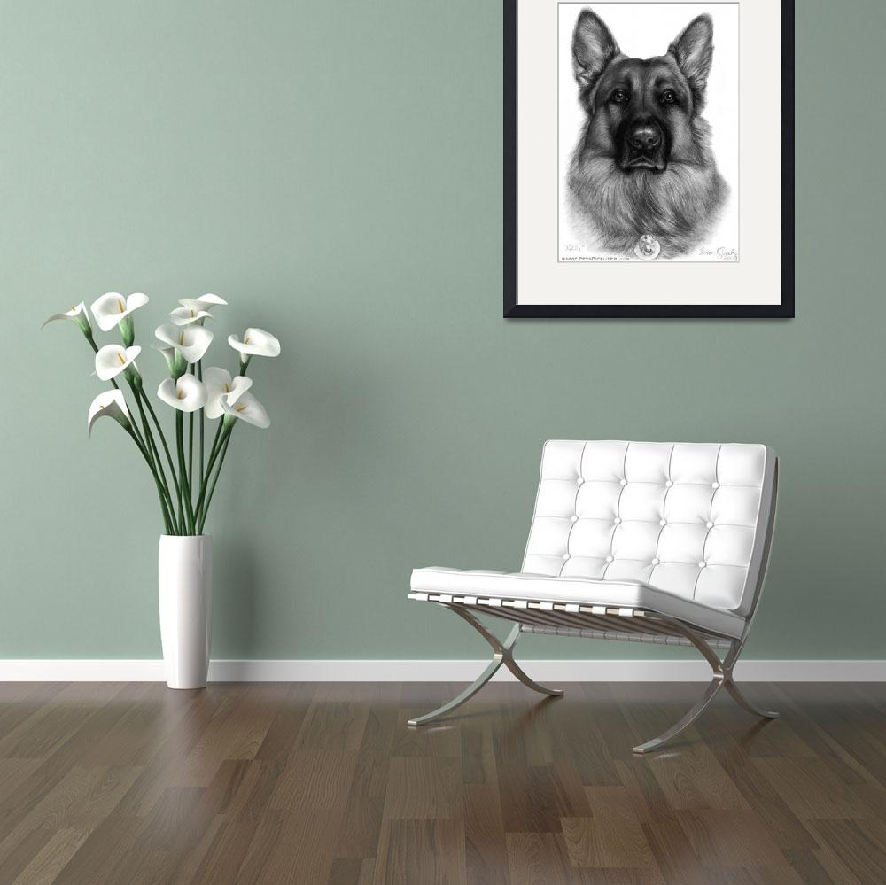 """Memorial Portrait of RIkko, German Shepherd K9 Off&quot  (2007) by sdonley"