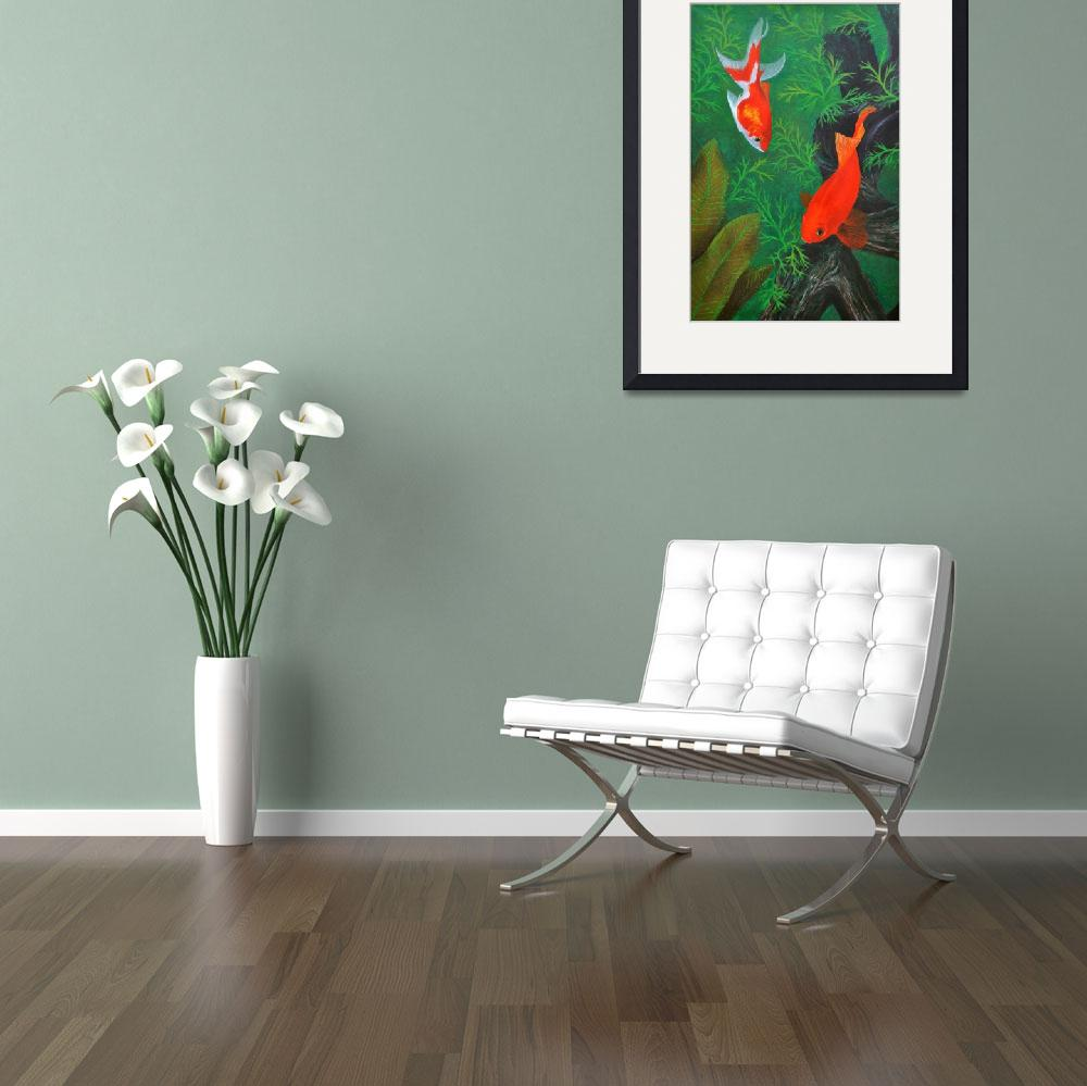 """""""Henry II & the Fantail Goldfish&quot  (2012) by evansonart"""