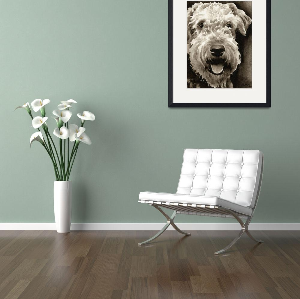 """""""Airedale Terrier&quot  (2010) by k9artgallery"""