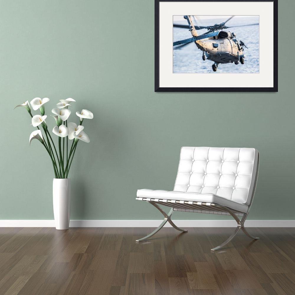 """An MH-60S Sea Hawk helicopter&quot  by motionage"