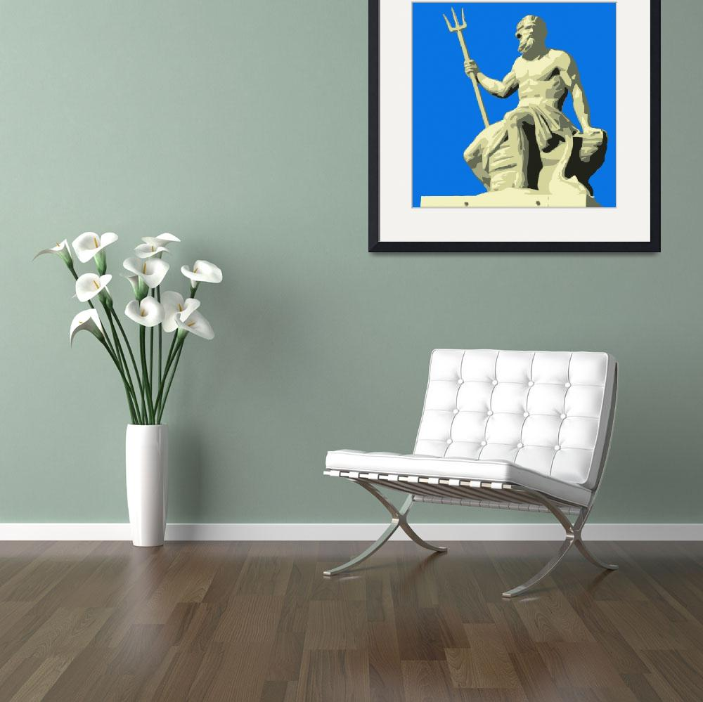 """""""Neptune Blue&quot  (2008) by whitewallgallery"""