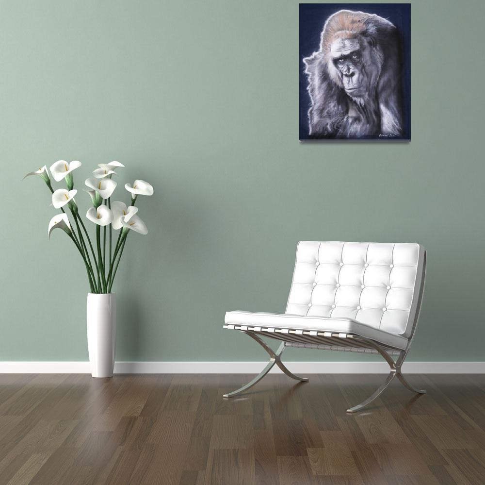 """""""Gorilla Portrait&quot  (2009) by MichaelTBurt"""