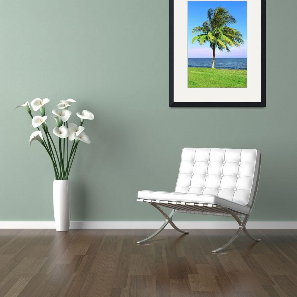 """""""Swaying Palm by the Sea""""  (2012) by charker"""