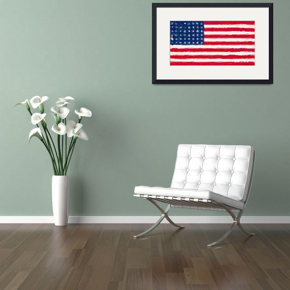 """Flag of the Brave - Us Flag&quot  by motionage"