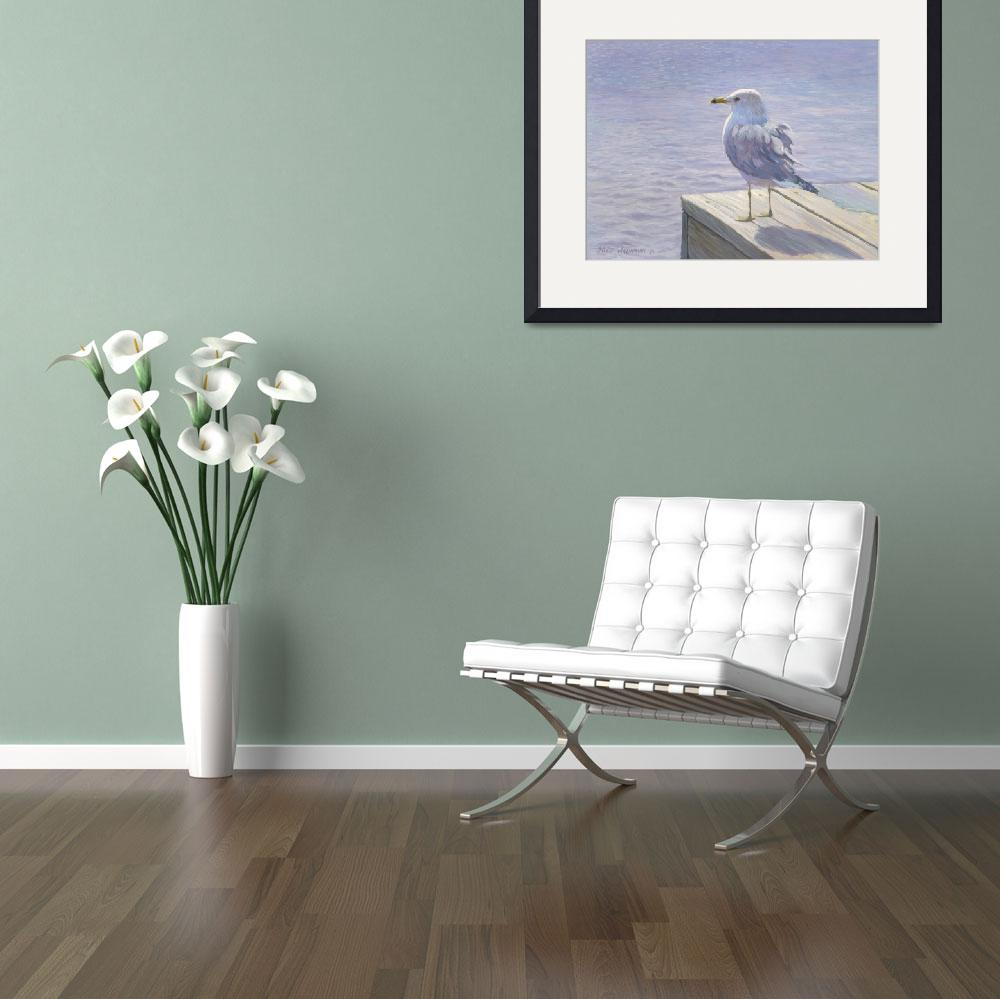 """""""SEAGULL ON DOCK&quot  by dvdwil"""