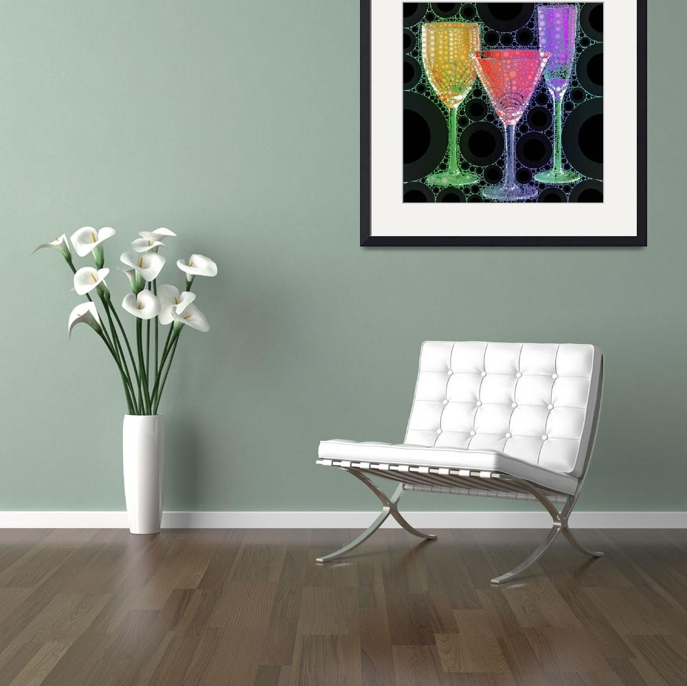 """Wine Glass Art-1&quot  (2015) by Ninas4otos"