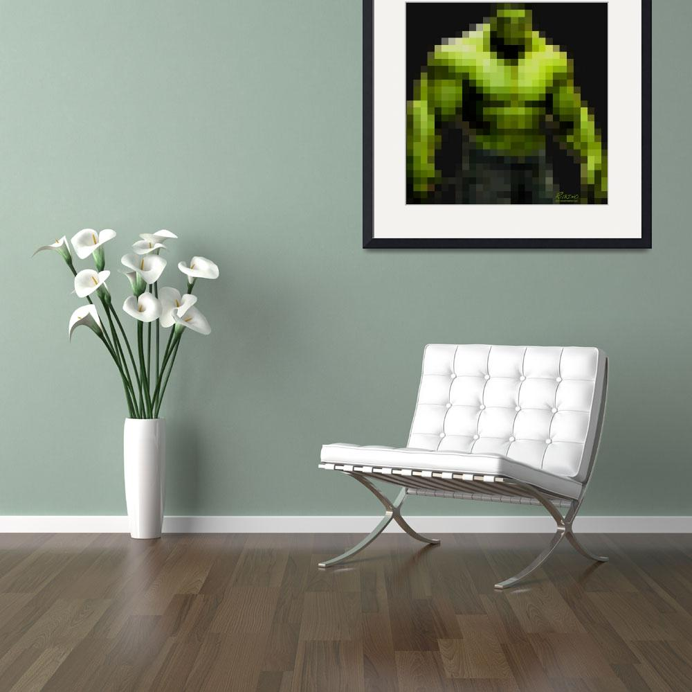 """Incredible Hulk&quot  (2013) by RubinoFineArt"