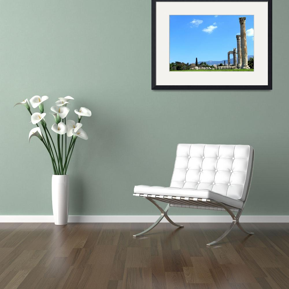 """""""The temple of Olympian Zeus&quot  (2012) by kos29"""