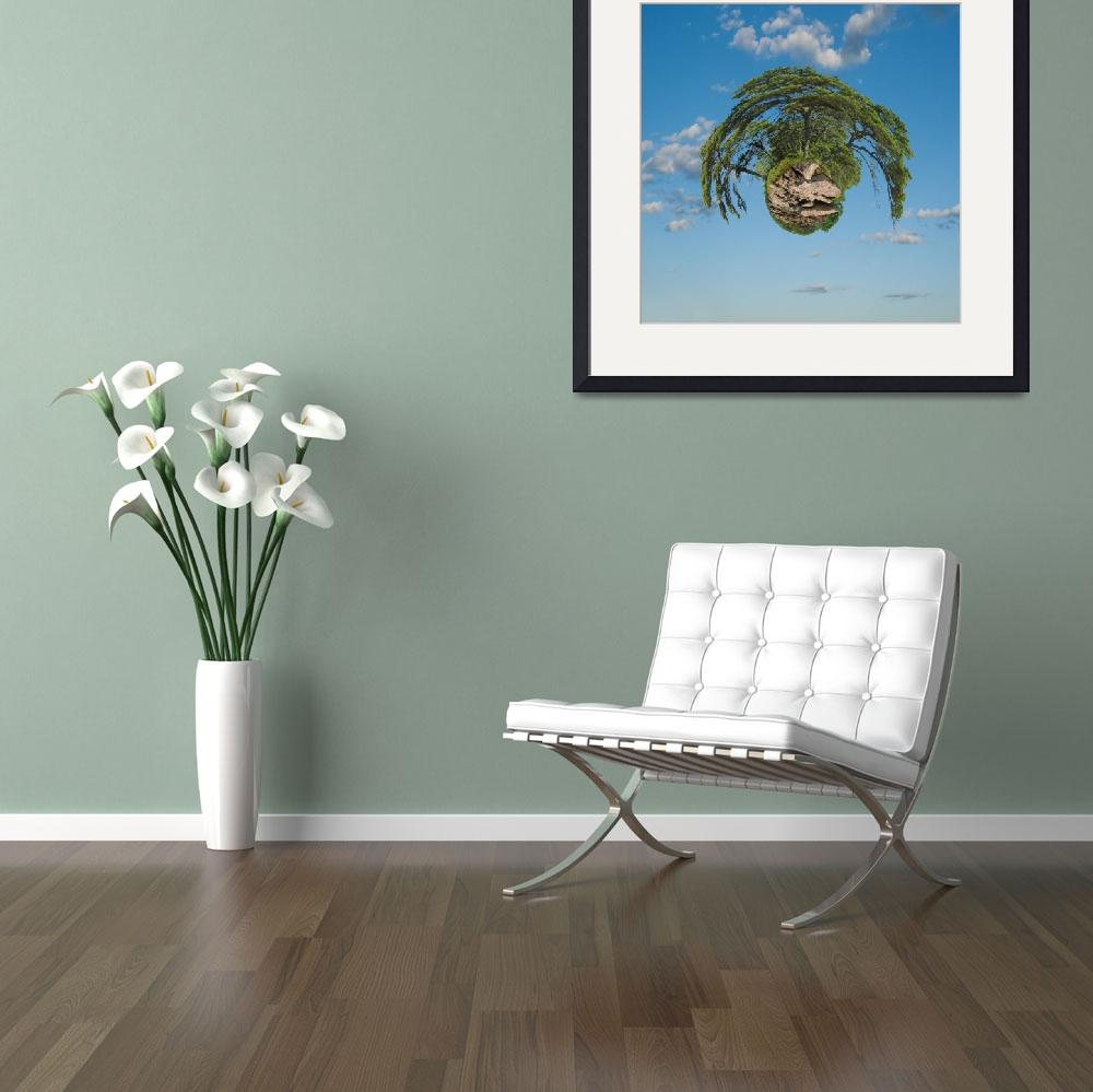 """""""Floating_Tree_Island_sky_L&quot  by Morganhowarth"""