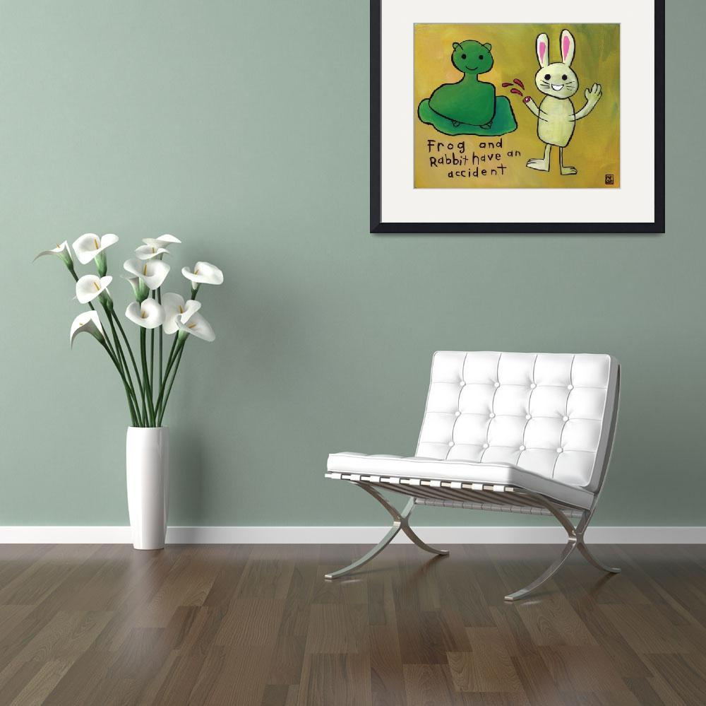 """""""Frog and Rabbit have an Accident&quot  by oldmanfoltz"""