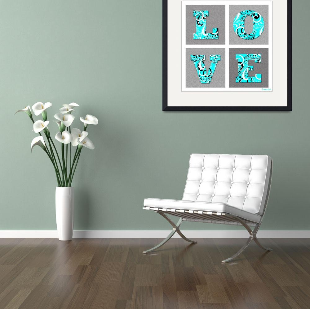"""""""Love Letters Turquoise&quot  (2013) by TruthJC"""