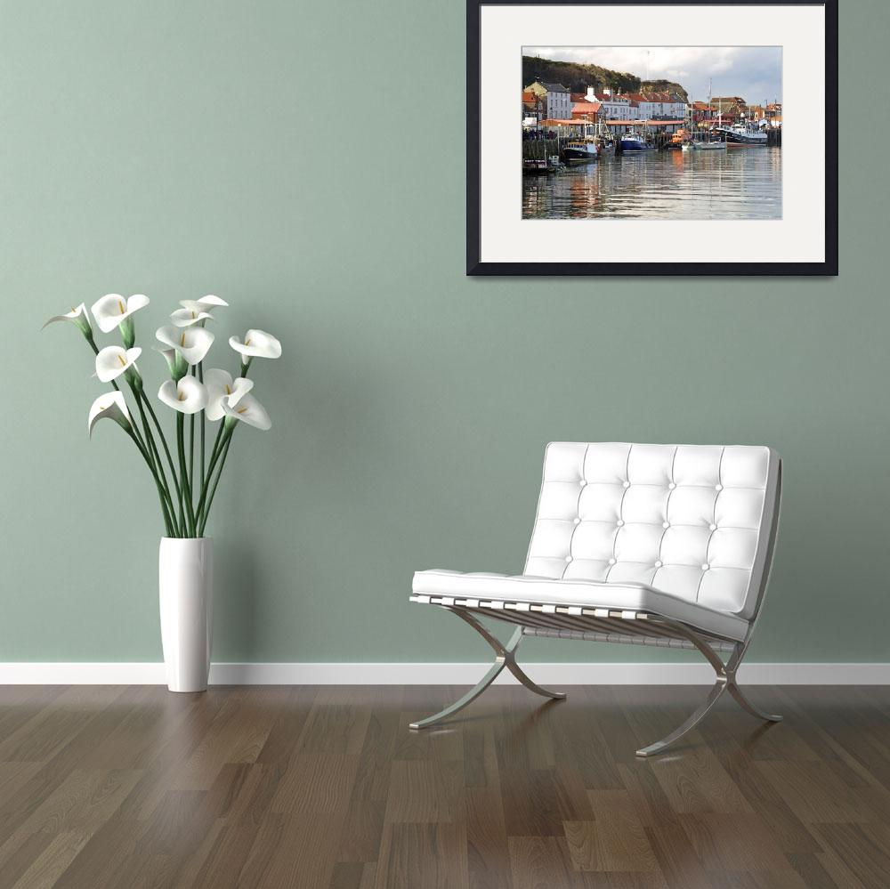 """""""Boats in the Lower Harbour, Whitby (35991-RDA)&quot  (2013) by rodjohnson"""