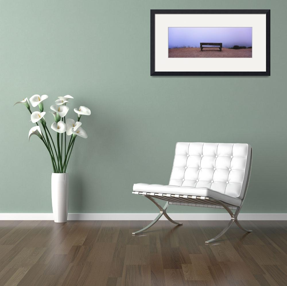 """""""Empty bench in a parking lot&quot  by Panoramic_Images"""