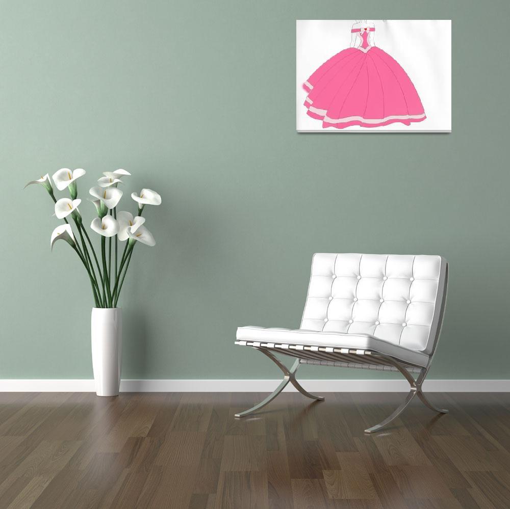 """""""Pink Fantasy Dream Gown Design""""  (2011) by Designista"""