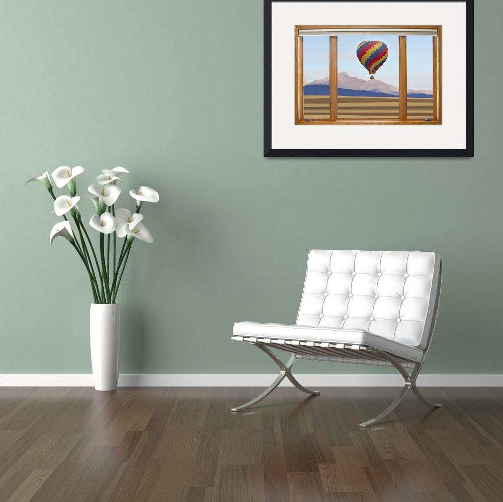 """""""Hot Air Balloon Colorado Wood Picture Window&quot  (2012) by lightningman"""