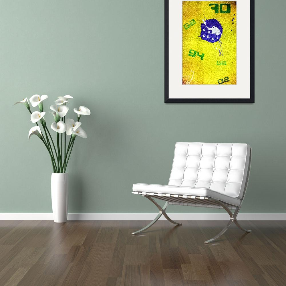 """""""Brazil (World Cup Poster)""""  (2010) by dac101"""