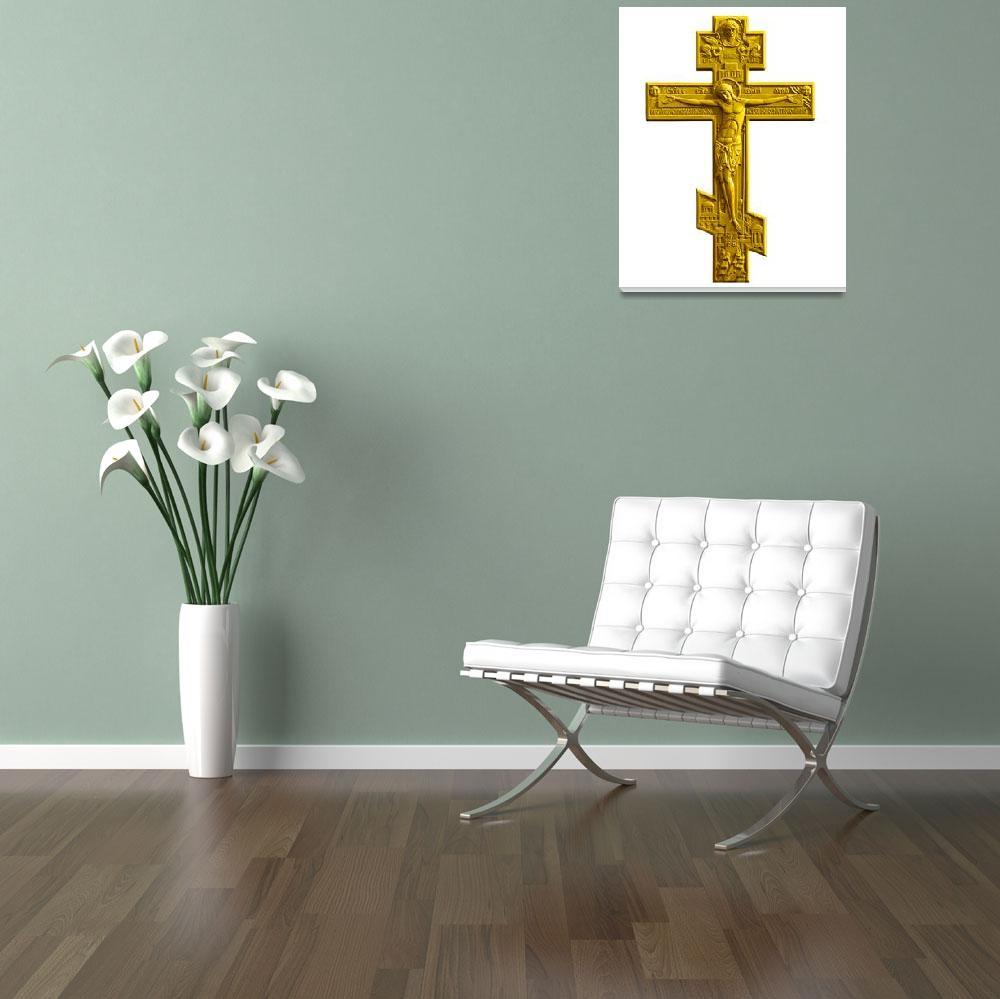 """Russian golden orthodox cross""  (2011) by igorsin"