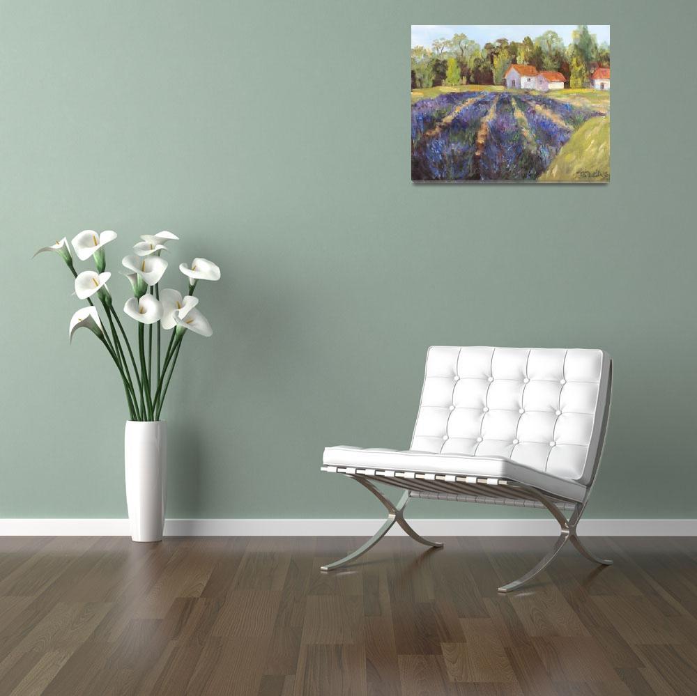 """Provence Lavender Fields""  (2011) by BarbaraRedingStudios"