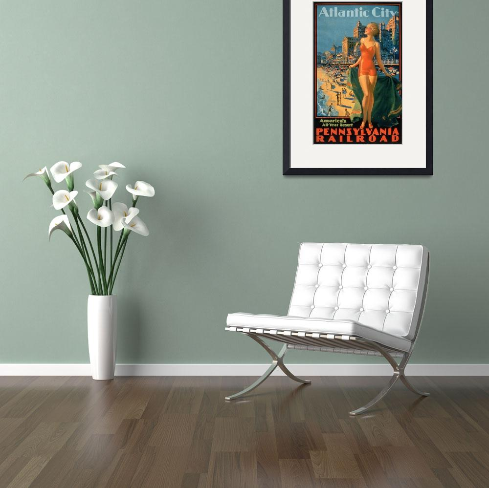 """""""Vintage Poster - Atlantic City&quot  by fineartmasters"""