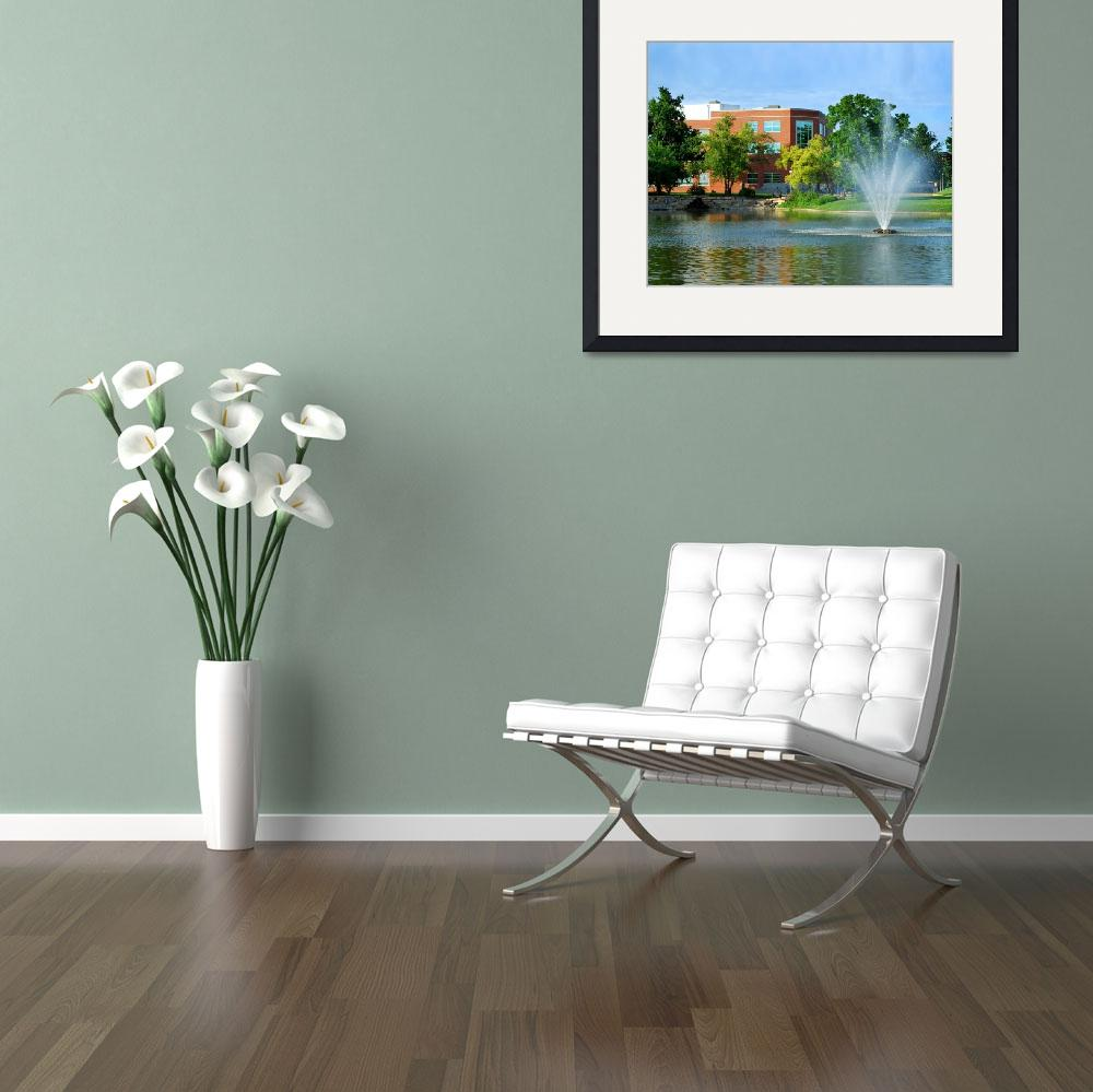 """""""Colden Pond with Fountain&quot  (2009) by cmcadamsphotography"""