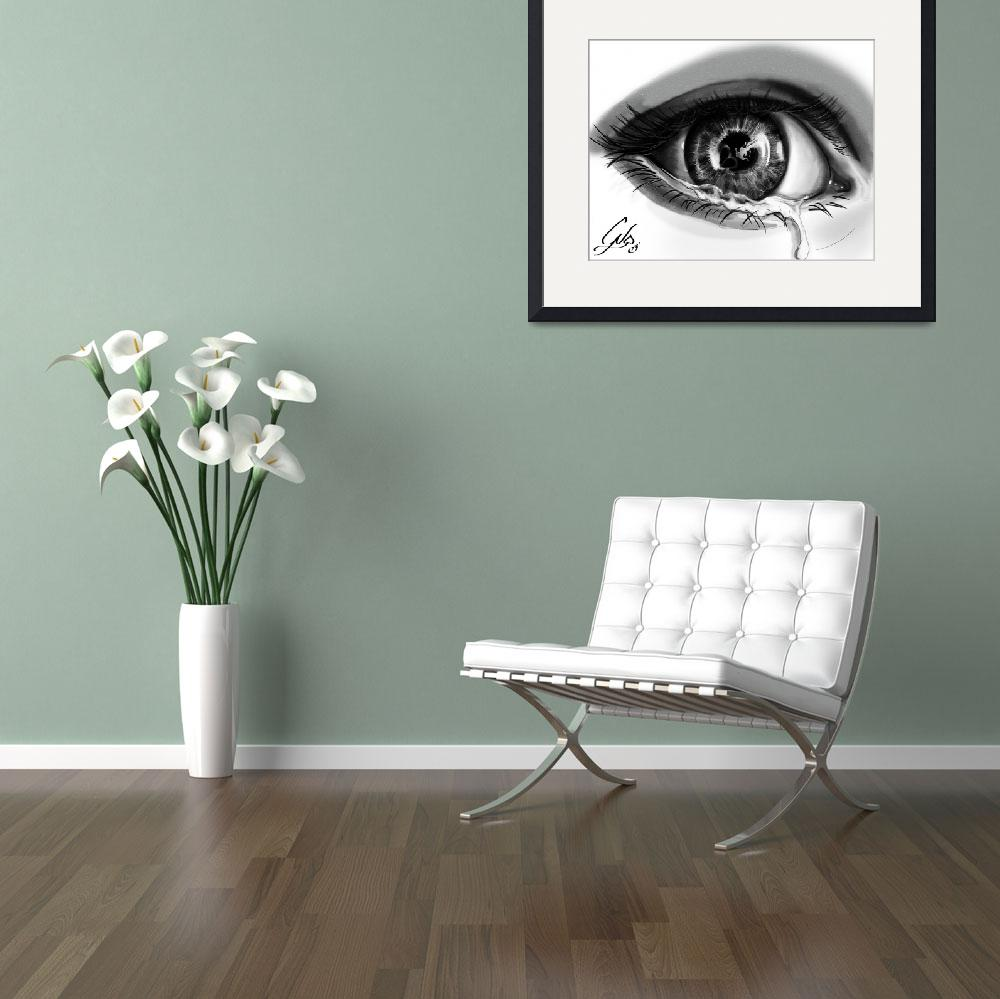 """""""Crying Eye&quot  (2013) by ColtonNicholas"""