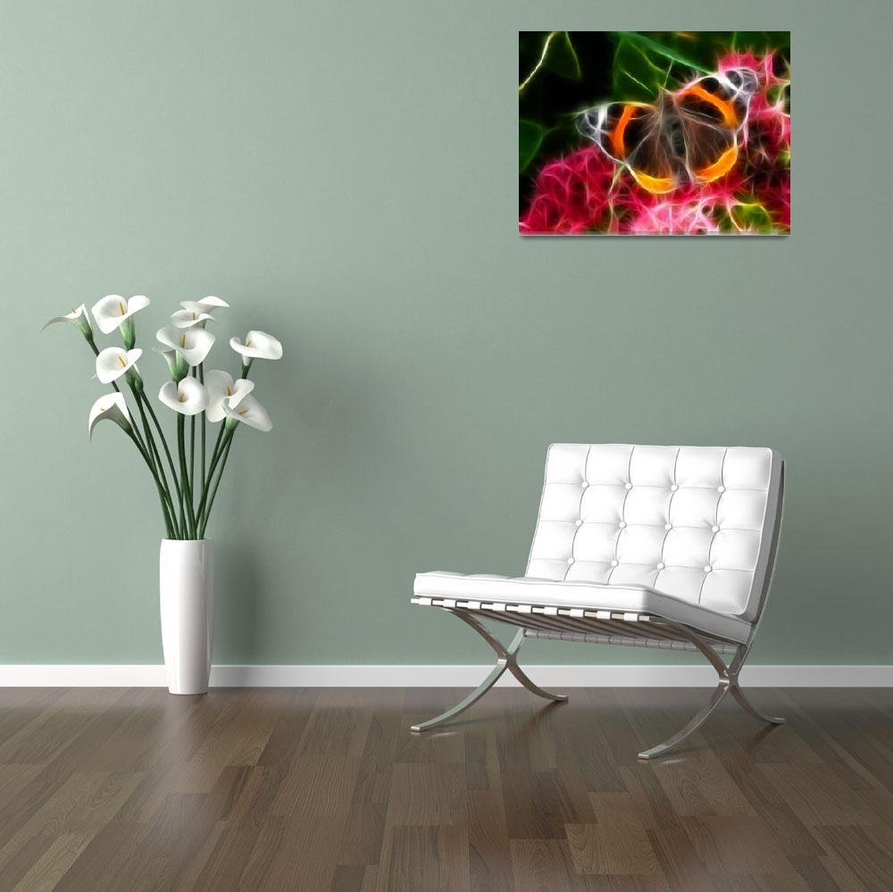 """Tortoiseshell butterfly""  (2009) by rosemariesw"