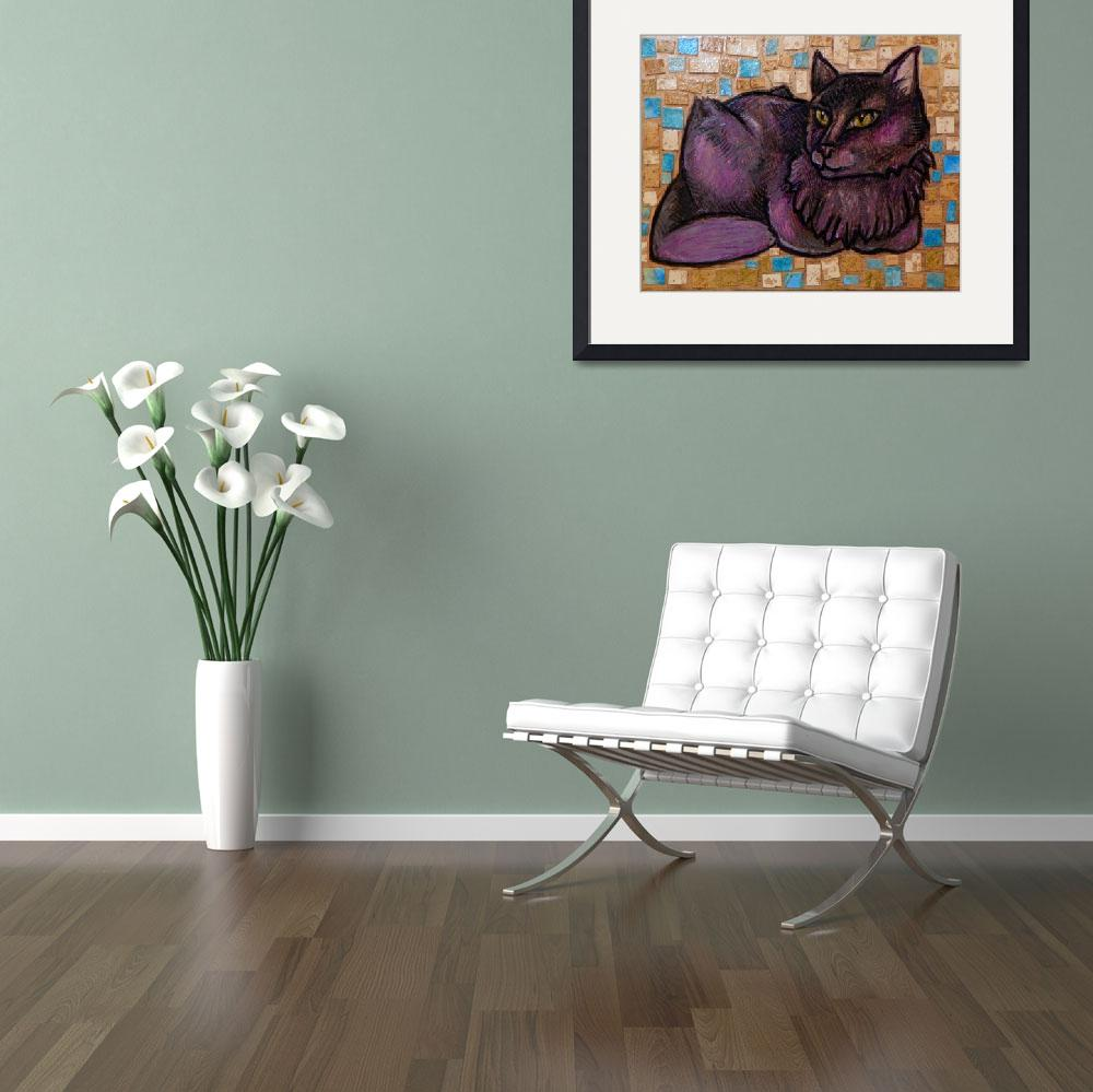 """""""The  Muse (Portrait of a Cat)&quot  (2011) by LynnetteShelley"""