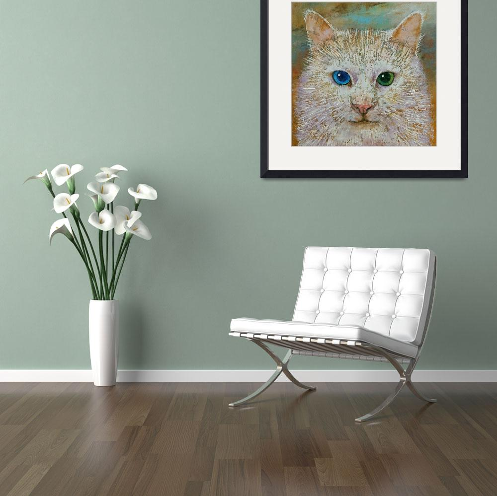 """""""White Cat Portrait""""  by creese"""