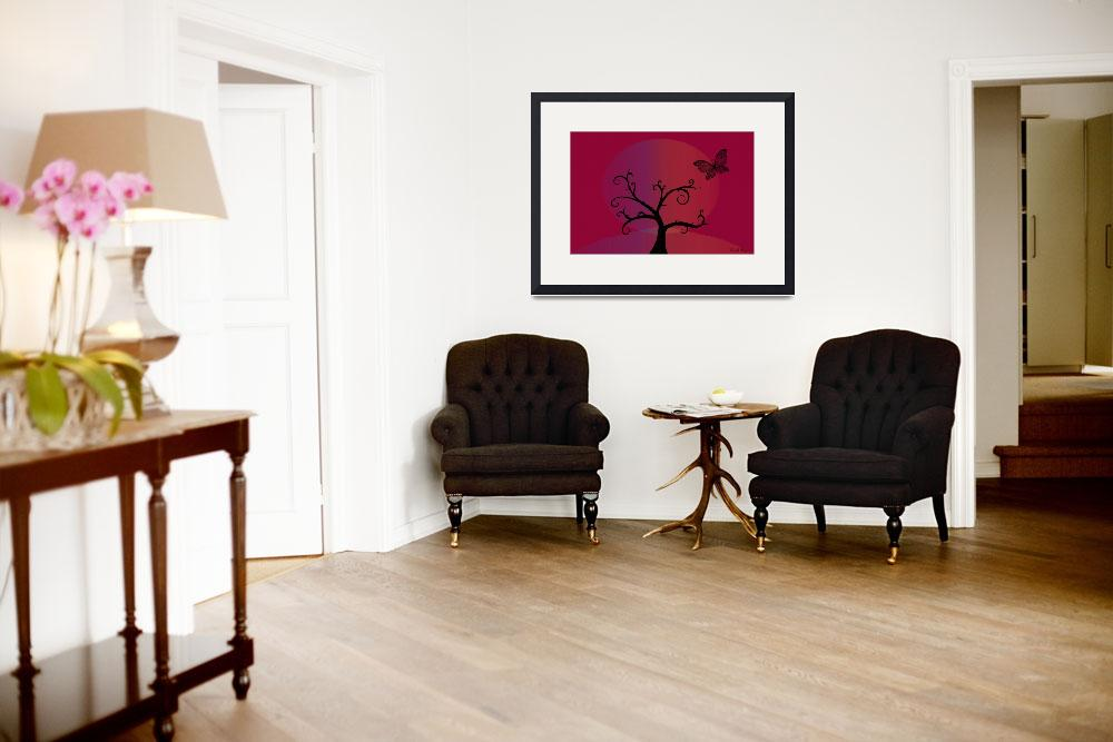"""""""Last Tree Standing - Red&quot  (2008) by ProvencalDesigns"""
