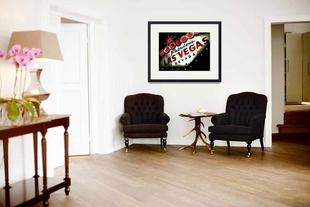 """""""Vegas Sign No. 3&quot  (2008) by PadgettGallery"""