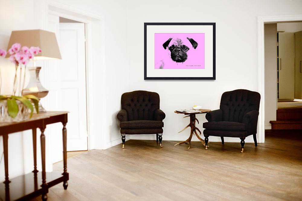 """mops puppy in babypink&quot  (2012) by fuxart"