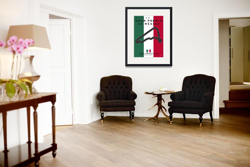 """""""My F1 Mexico Race Track Minimal Poster&quot  by Chungkong"""