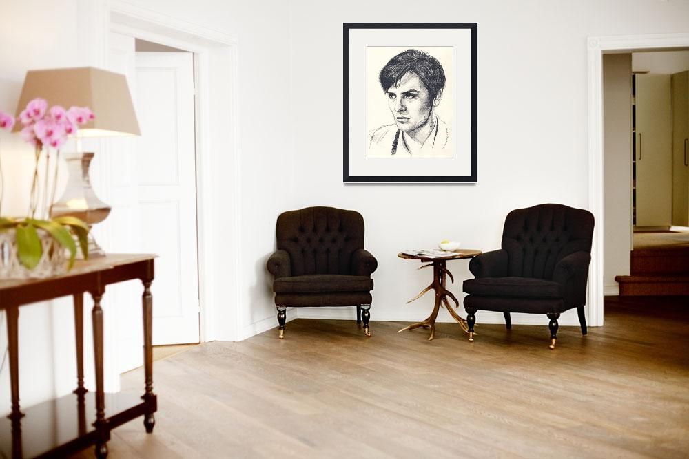"""""""Alain Delon&quot  (2015) by waxwing"""