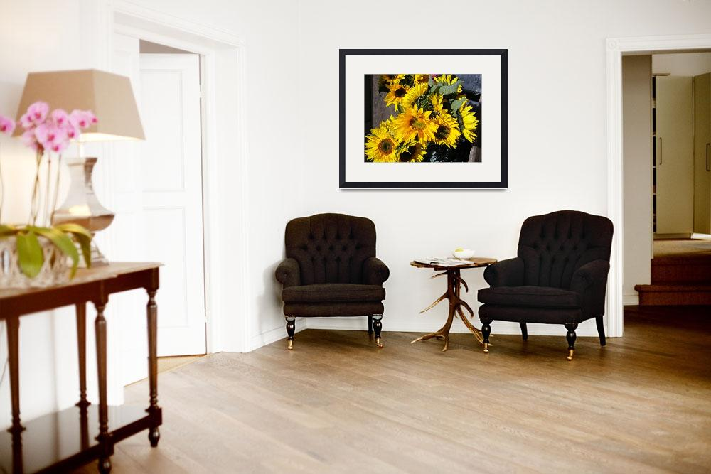 """""""Bunch of sunflowers&quot  by kreinke"""