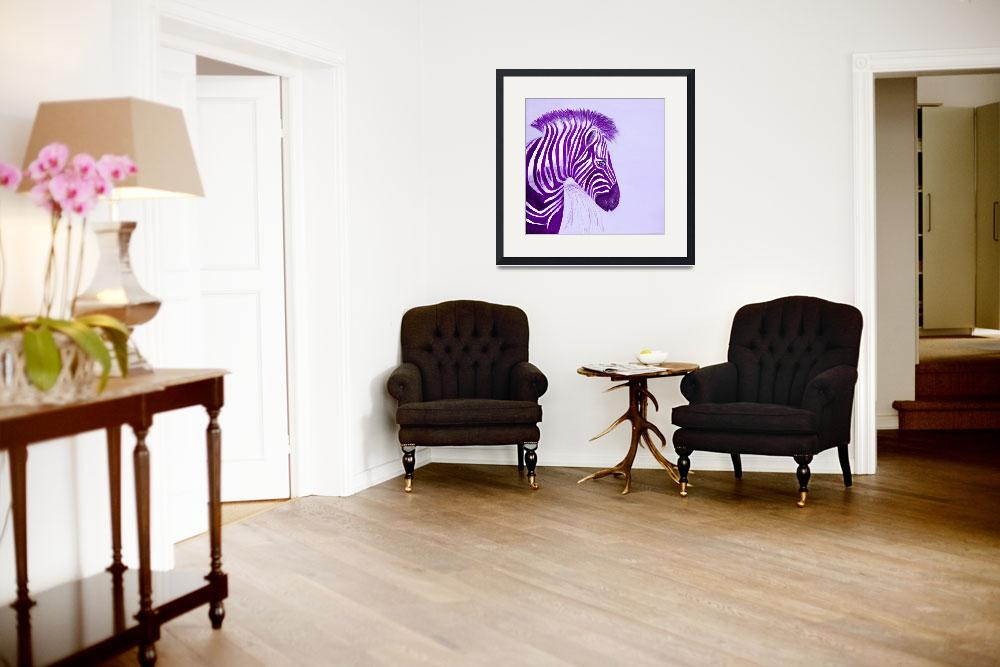 """Zebra Purple Popart&quot  (2010) by Spangles44"