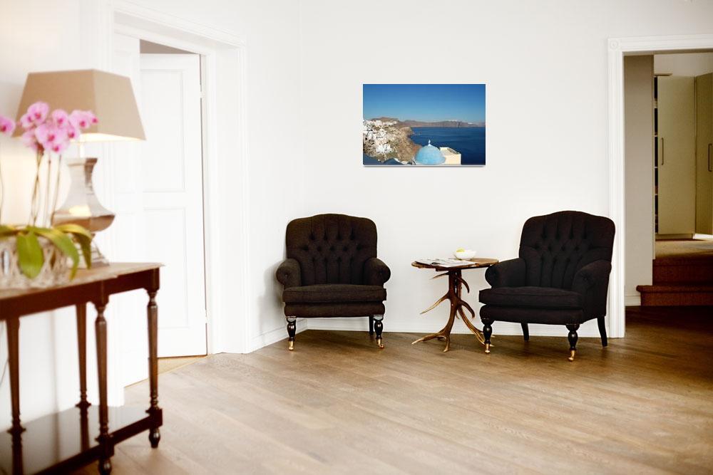 """Santorini Shades of Blue&quot  (2008) by Fitiwalt"