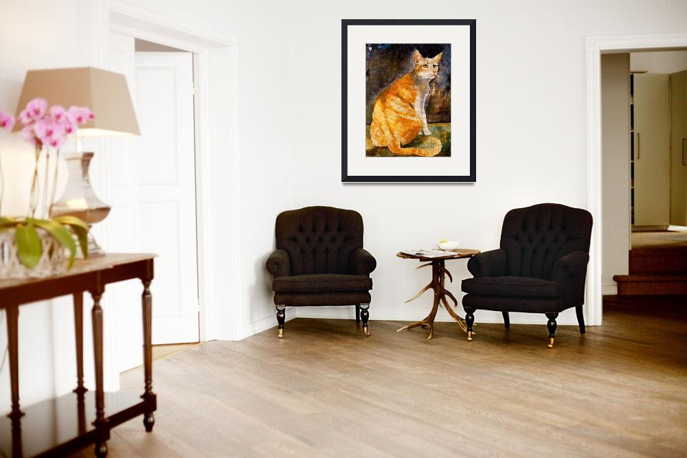 """""""Tommy Cat Stunning Cat Potrait - American Shorthai&quot  (2007) by GinetteCallaway"""
