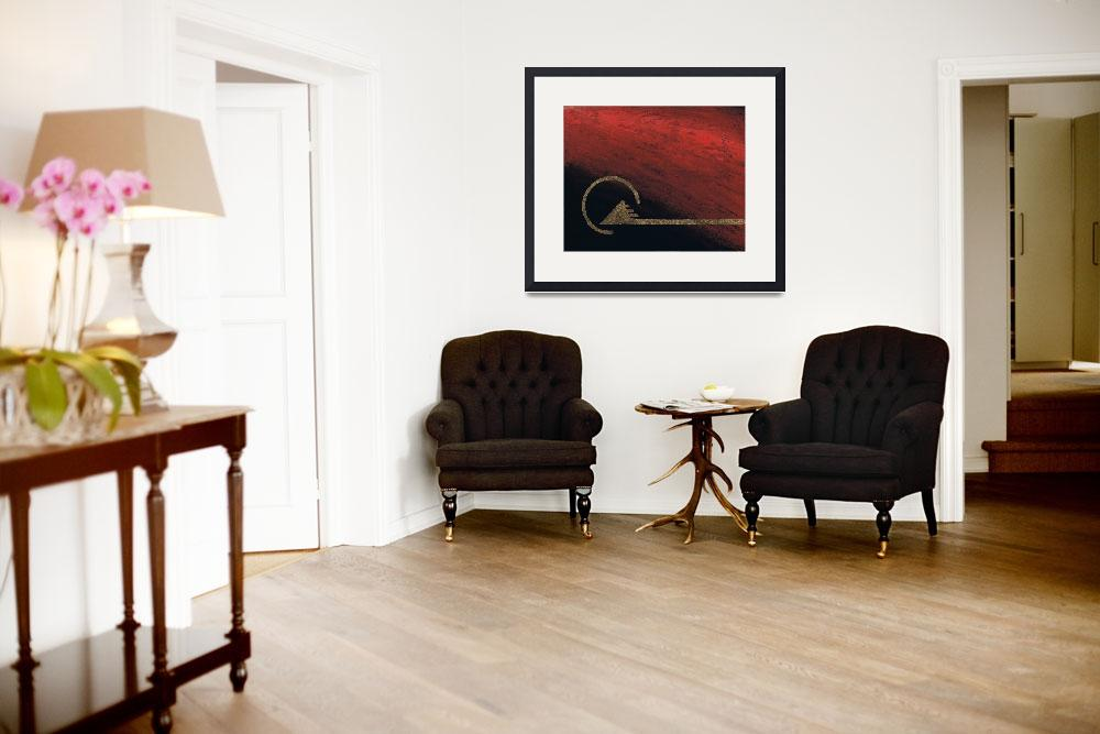 """""""Desert Fire Triptych Image 1 of 3""""  (2008) by ThornGardenStudios"""