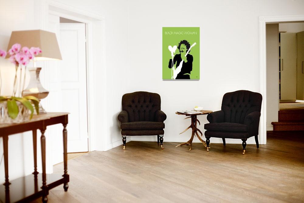 """""""No046 MY SANTANA Minimal Music poster&quot  by Chungkong"""