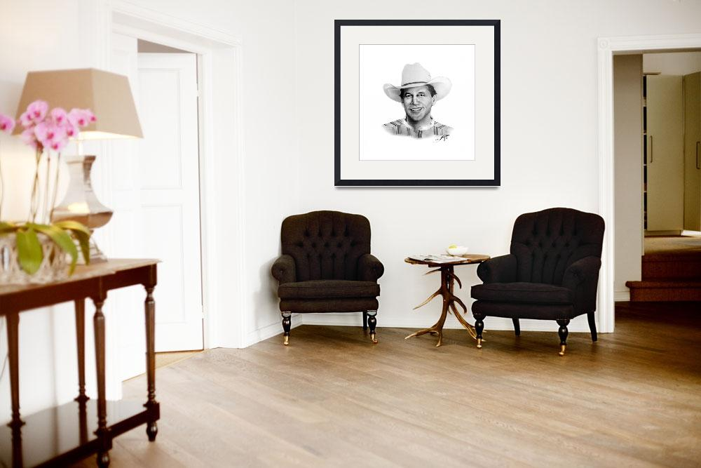 """George Strait&quot  (2007) by dustinpriceportraits"
