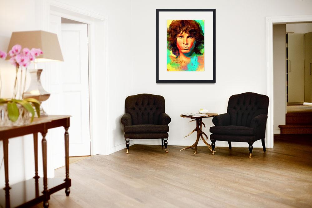 """Jim Morrison Pop Art Poster&quot  (2014) by artofvela"