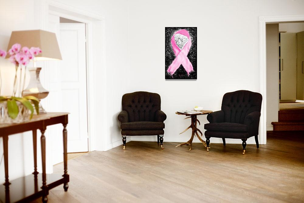 """Breast Cancer Awareness Ribbon""  (2012) by LukeMoore"